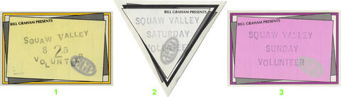 Squaw Valley Summer Music Festival Backstage Pass