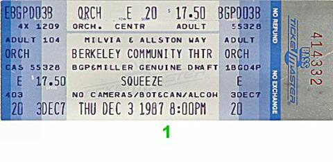 Squeeze Vintage Ticket