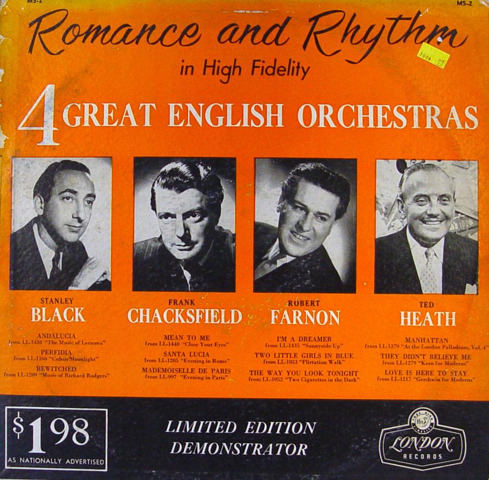 "Stanley Black / Frank Chacksfield / Robert Farnon / Ted Heath Vinyl 12"" (Used)"