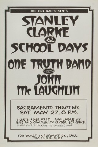 Stanley Clarke & School Days Poster