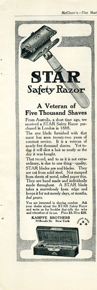 Star Safety Razor Vintage Ad
