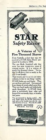 Star Safety Razor Vintage Ad