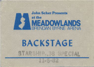 Starship Backstage Pass