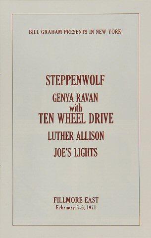 Steppenwolf Program reverse side