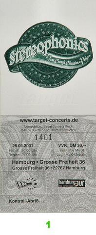 Stereophonics Vintage Ticket