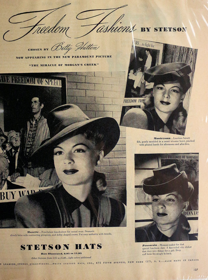 Stetson Hats Vintage Ad