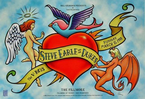 Steve Earle & the Dukes Poster