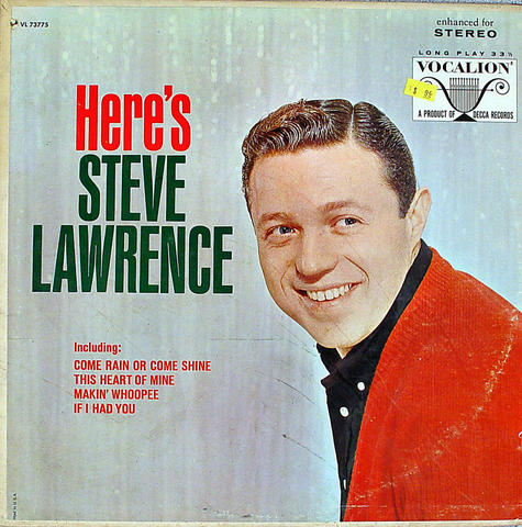 "Steve Lawrence Vinyl 12"" (Used)"