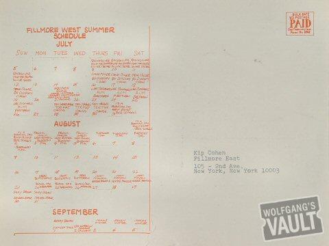 Steve Miller Band Postcard reverse side