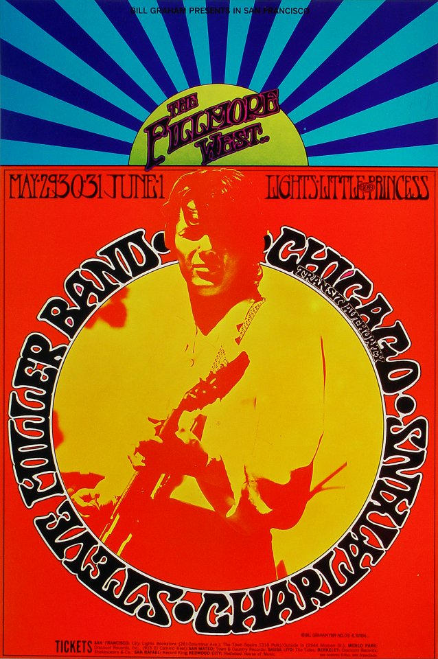 Steve Miller Band Poster From Fillmore West May 29 1969