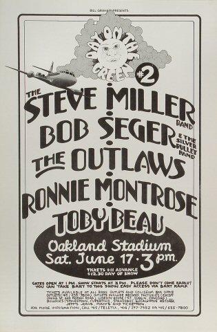 Steve Miller Band Vintage Concert Poster From Oakland