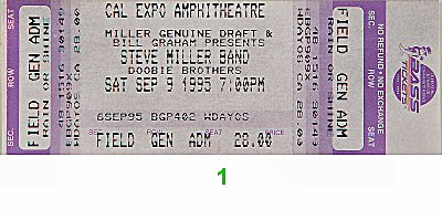 Steve Miller Band Vintage Ticket