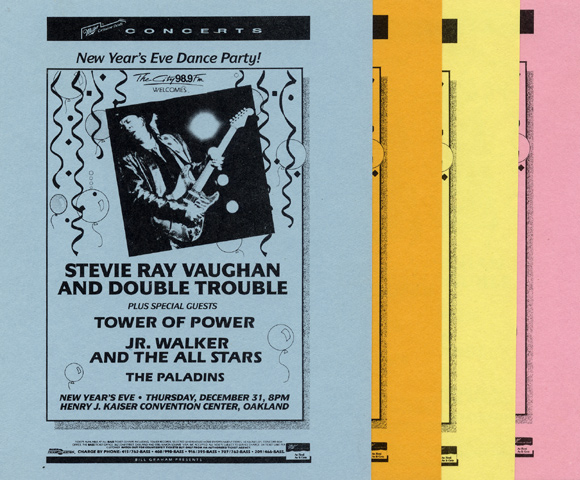 Stevie Ray Vaughan & Double Trouble Handbill reverse side