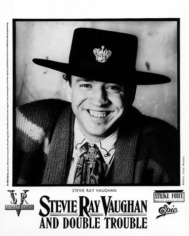 Stevie Ray Vaughan Amp Double Trouble Promo Print 1989 At