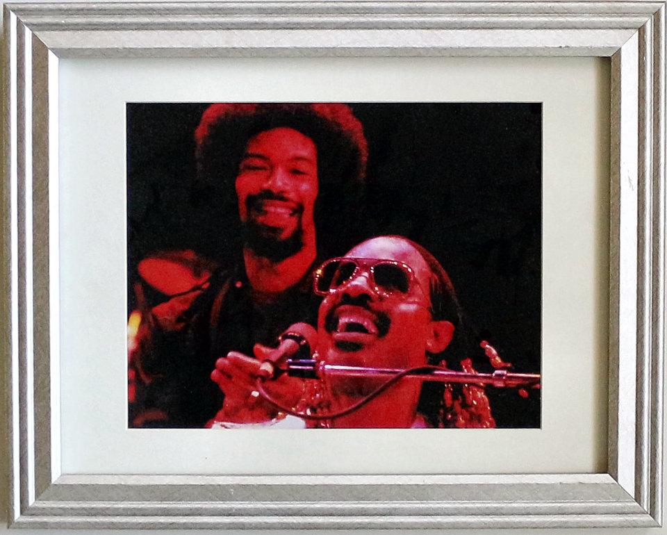 Stevie Wonder Framed Vintage Print