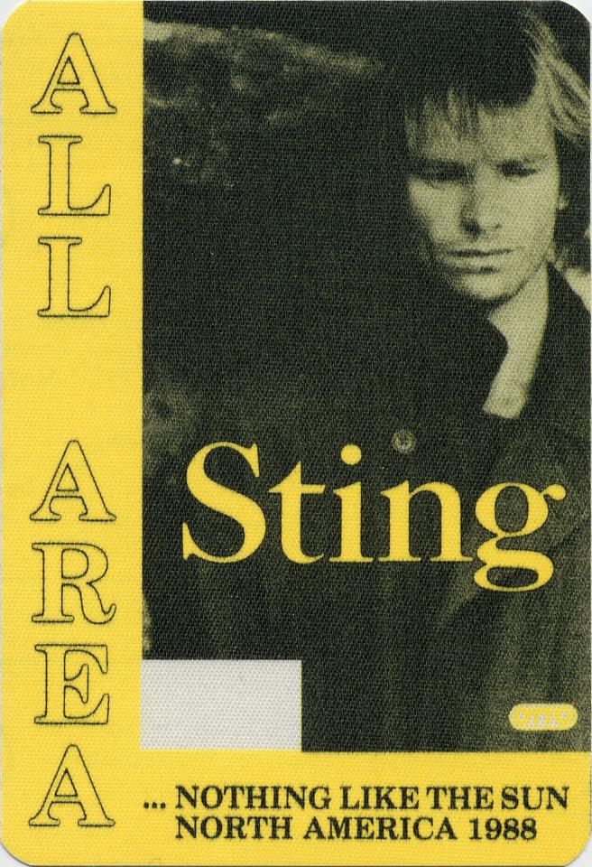 Sting Backstage Pass