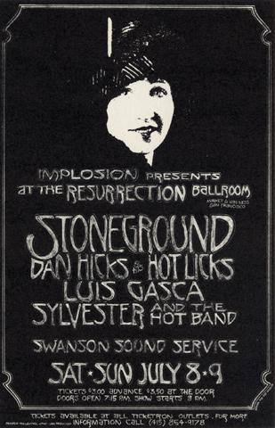 Stoneground Handbill
