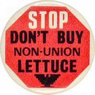 Stop Don't Buy Non-Union Lettuce Pin
