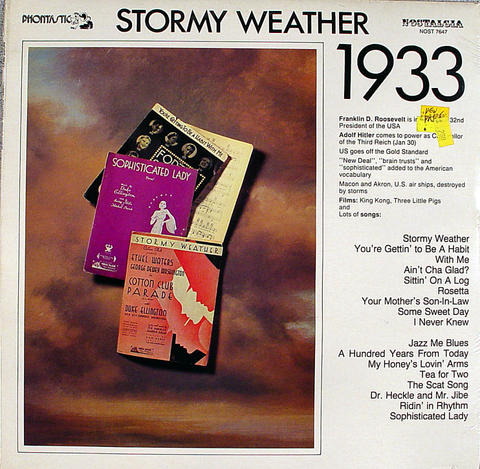 "Stormy Weather: 1933 Vinyl 12"" (New)"