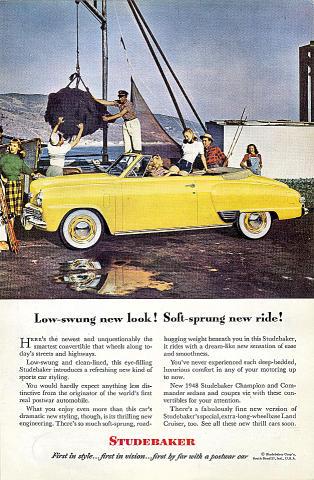 Studebaker: Champion / Commander Vintage Ad