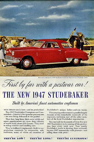 Studebaker Commander Regal De Luxe Coupe Vintage Ad