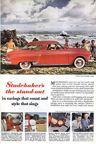 Studebaker Commander Starlight Coupe Vintage Ad