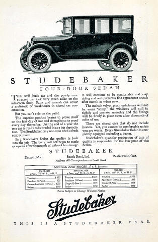 Studebaker: Four-Door Sedan Vintage Ad