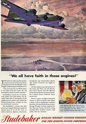 "Studebaker: ""We All Have Faith In Those Engines!"" Vintage Ad"