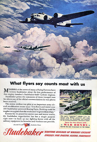 Studebaker: What Flyers Say Counts Most With Us Vintage Ad