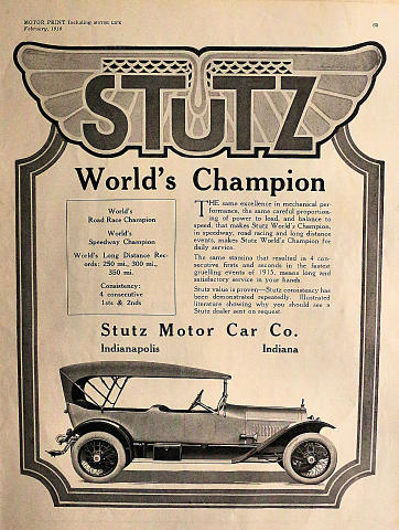 Stutz: World's Champion Vintage Ad