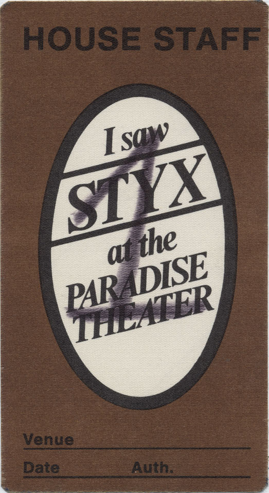 Styx Backstage Pass