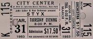 Styx Vintage Ticket