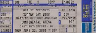 Summer Jam 2000 Vintage Ticket