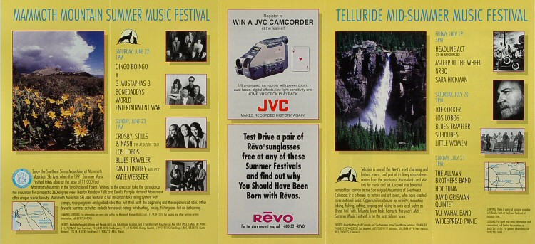 Summer Music Festival Series Program reverse side