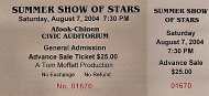 Summer Show Of Stars Vintage Ticket