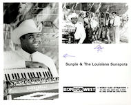 Sunpie & The Louisiana Sunspots Promo Print