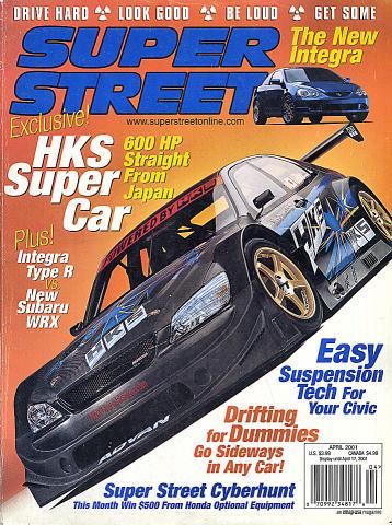 Super Street Magazine April 2001 Magazine