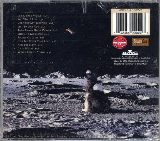 Supertramp CD reverse side