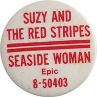 Suzy and the Red Stripes Pin