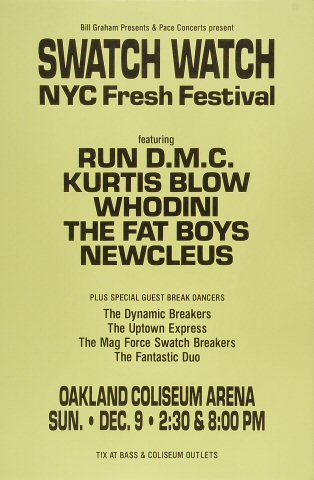 Swatch Watch New York City Fresh Festival Poster