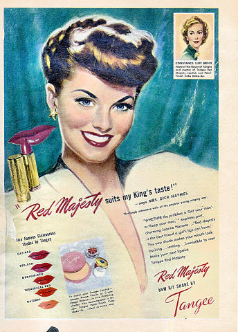 Tangee: Red Majesty Vintage Ad