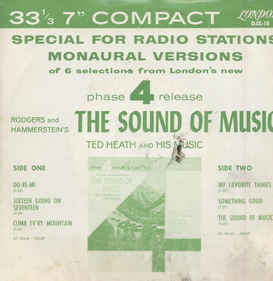 """Ted Heath Vinyl 7"""" (Used)"""