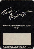 Ted Nugent Backstage Pass