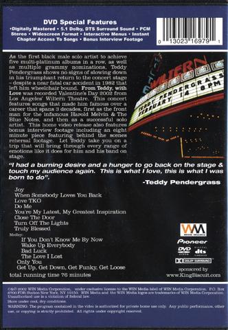 Teddy Pendergrass DVD reverse side