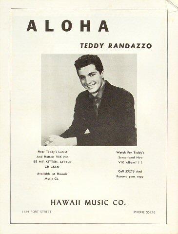 Teddy Randazzo Program reverse side