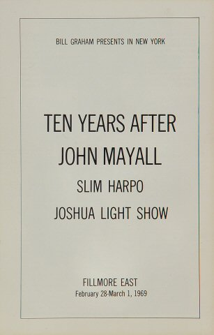 Ten Years After Program reverse side