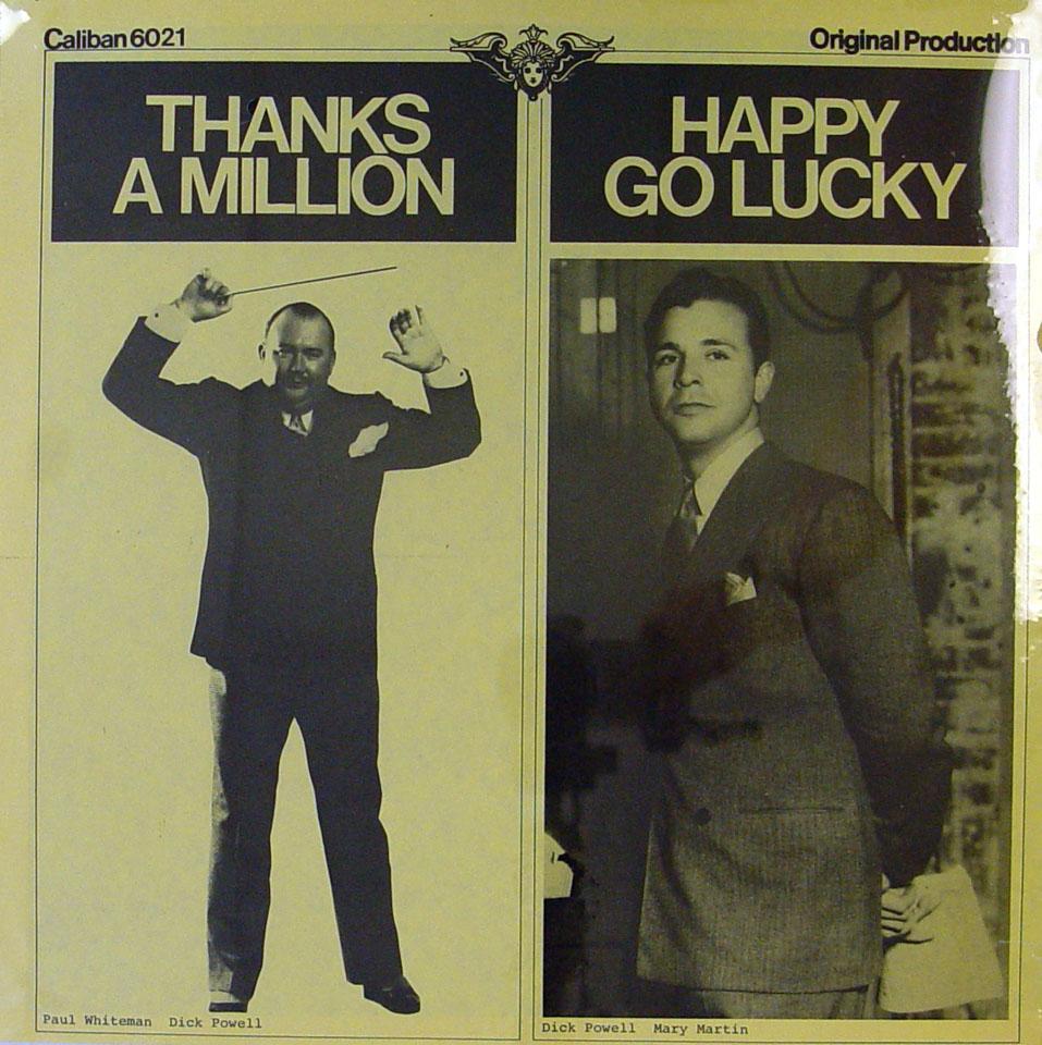 "Thanks A Million / Happy Go Lucky Vinyl 12"" (New)"