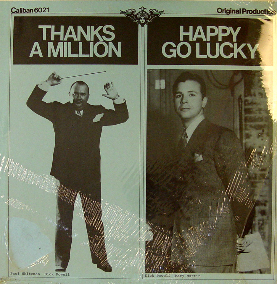 "Thanks A Million / Happy Go Lucky Vinyl 12"" (New)"