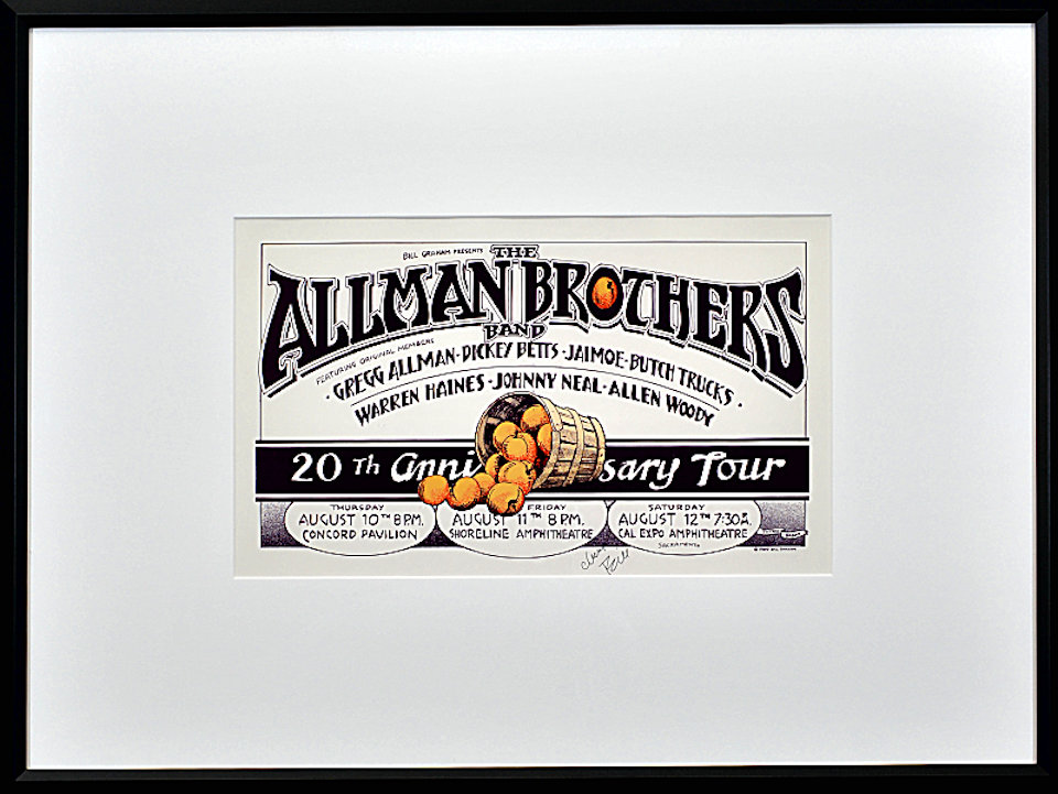 The Allman Brothers Band Framed Poster reverse side