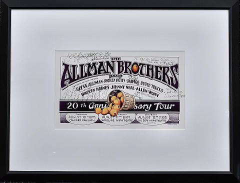 The Allman Brothers Band Framed Poster